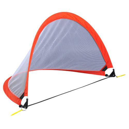 HOMCOM 4FT /122cm Foldable Soccer Net Kids Pop Up Football Goal Gate Door Training Kit Outdoor Practice Game Carry Bag