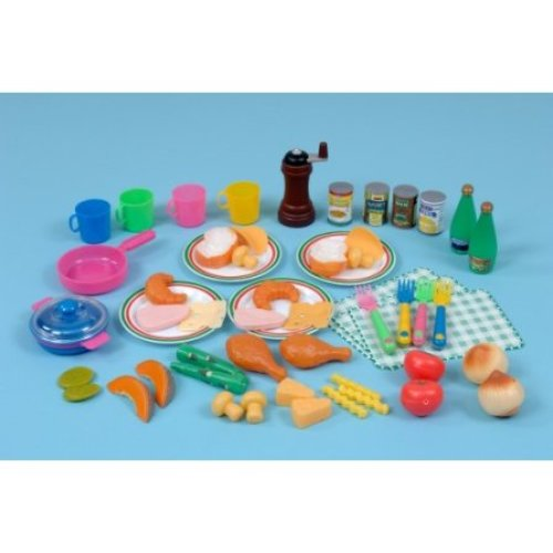 Childrens 228 Piece Multicultural Food Play Set (A4133S)