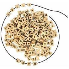 Pbx2470690 - Playbox - Wooden Beads (letters) - 7 X 7mm - 300 Pcs