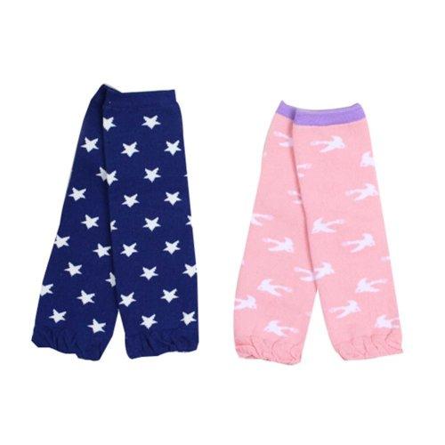 Set of 2 Star/ Bird Pattern Baby Socks Baby Leggings Baby Leg Warmers,0-3 Years