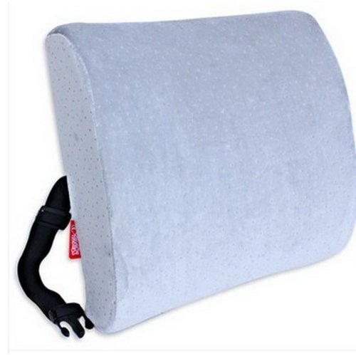 Detachable Rebound Memory Space Office Car Pillows On The Waist Cushion(Grey)
