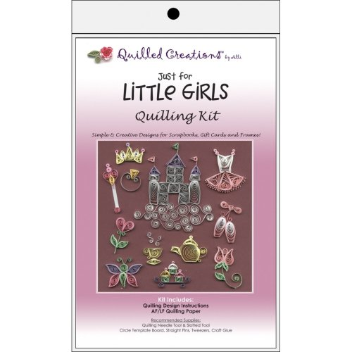 Quilled Creations Quilling Kit-Just for Little Girls