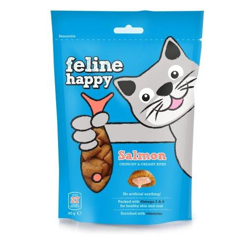 Feline Happy Salmon Treats 60g (Pack of 8)