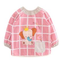 Lovely Baby Bibs Feeding Bib Kid's Apron Overclothes Waterproof Long Sleeves Art Smock NO.15