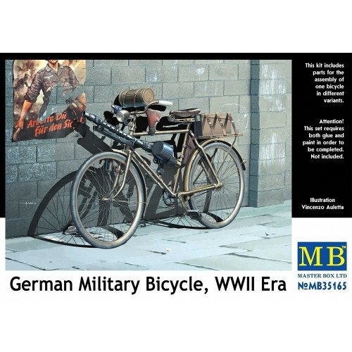 Mas35165 - Masterbox 1:35 - German Military Bicycle, Wwii Era