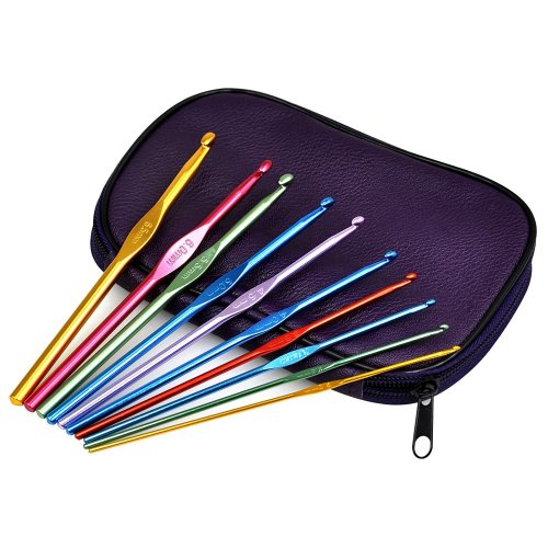 22pc Trixes Aluminium Crochet Hooks | Crochet Hook Set With Case
