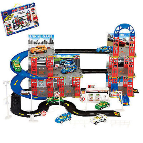 Multi Storey City Car Park Auto Parking Garage Die Cast Cars Truck Play Set Toy[74pc Garage]