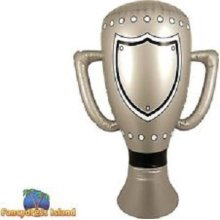 Giant Inflatable Trophy - Size: 60cm - Party Prop Blow Up Sports Silver Cup -  inflatable trophy 60cm party prop blow up sports silver cup prize