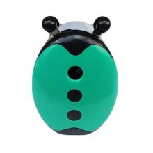 Lovely Ladybird Manual Pencil Sharpener for Office and Classroom (Green/White)