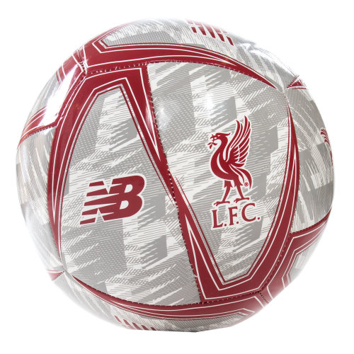 New Balance Liverpool FC Dash Football Soccer Ball White/Grey/Red