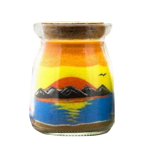 A Bottle of Sand Art Home/Office Ornament/Toy [Sunrise]