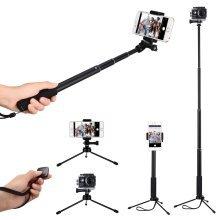 Selfie Stick, Mpow Multifunctional Phone Tripod Selfie Monopod, Black