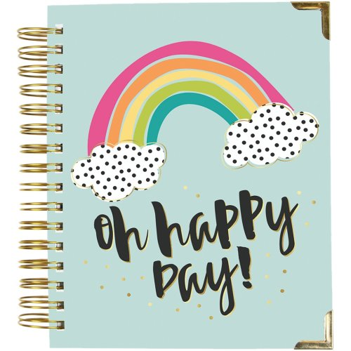 "Carpe Diem Spiral 17-Month Dated Weekly Planner 7""X8.75""-Oh, Happy Day!"