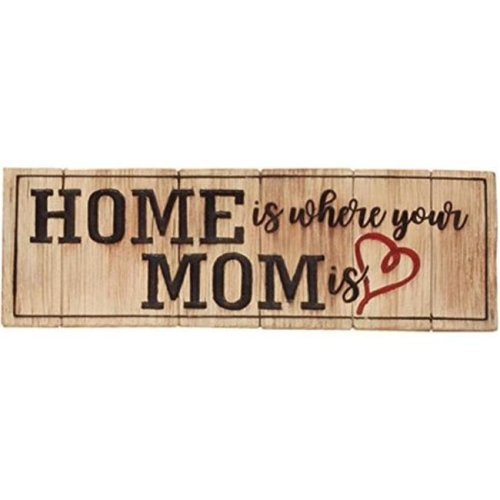 Spoontiques 19745 Desk Sign - Home is Where Mom is