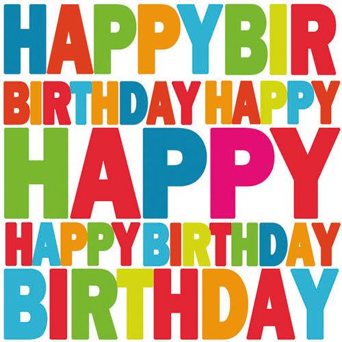 Ambiente 3 Ply Paper Napkins, Happy Birthday