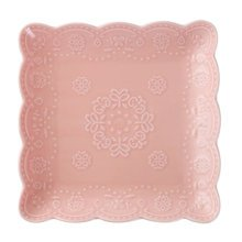 Ceramics Serving Dishes Trays Platters Candy Dishes Decorative Tray Steak Plate 7.87 Inch (Pink)