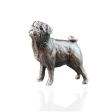 Bronze Pug Dog Figure - Butler & Peach - 2068.