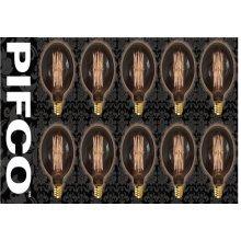 10 X PIFCO G95 40 Watt E27 ES Vintage Large Globe Retro Light Bulbs