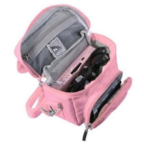 FoneM8® - Pink Travel Bag Carry Case For Nintendo 3DS, 3DS XL