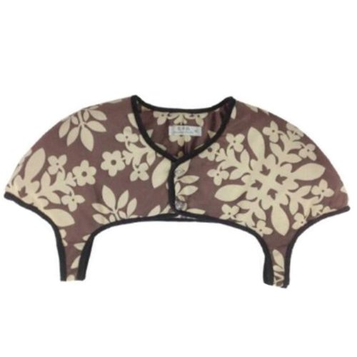 Unisex Prevent Arthritis Pain Thick Velvet Shoulder Warmers Clothing Shrugs XXL Size(Brown)