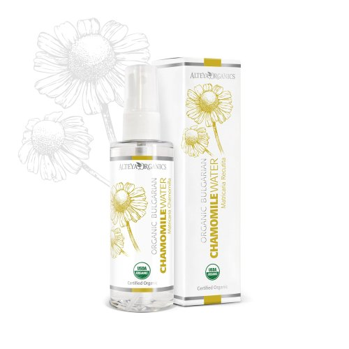 Alteya Organic Chamomile Water Spray 100 ml - USDA Certified Organic Pure Bio Natural Floral Water Steam-Distilled from Fresh Hand Picked...