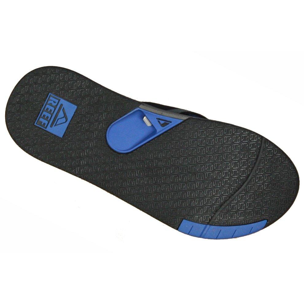 3eb66dea8552 ... Reef Water Friendly Mens Sandals with Bottle Opener ~ Fanning Low grey  blue - 3.