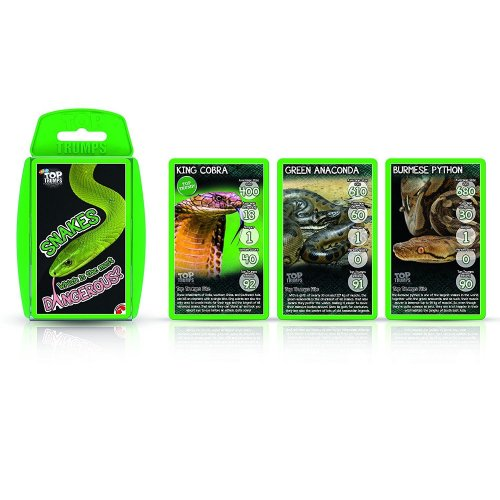 Snakes Top Trumps Card Game