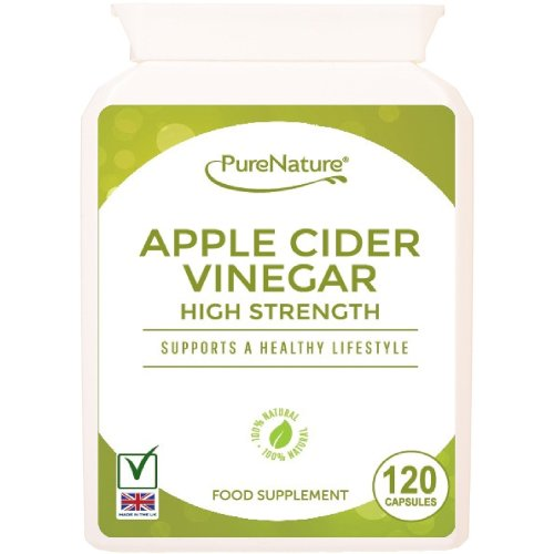 Apple Cider Vinegar - 120 Capsules - Helps Support and Maintain a Healthy Body Fluid Balance, Weight loss and Sugar Balance