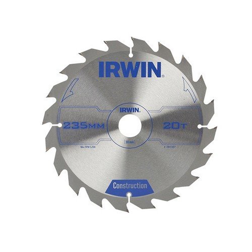 Irwin 1897207 Circular Saw Blade 235 x 30mm x 20T ATB