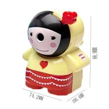 Lovely Girl Manual Pencil Sharpener for Office and Classroom