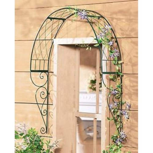 Rose arch for the door