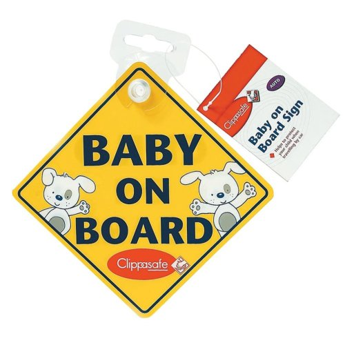 Clippasafe Baby on Board Warning Sign