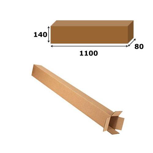 20x Postal Cardboard Box Long Mailing Shipping Carton 1100x140x80mm Brown