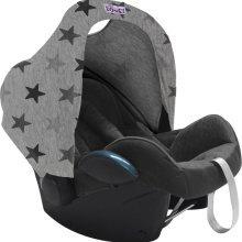 Dooky Dooky Hoody Replacement Infant Car Seat Hood Grey Stars