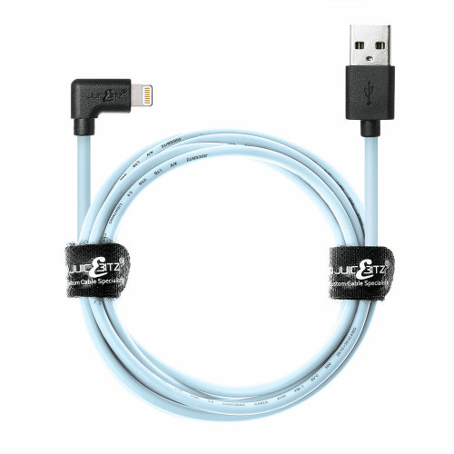 2m 20AWG Apple [MFi Certified] Angled Lightning 8 Pin USB Data Sync Charger Cable - Limited Edition