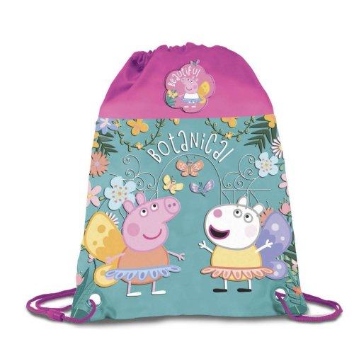 PEPPA PIG Drawstring BOTANICAL Design Gym Bag