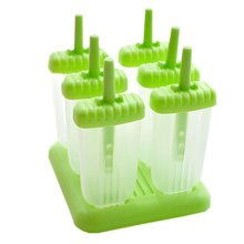 """Creative Lovely Ice-Cream Molds No Spill Square DIY Tray 5.5*5"""" GREEN"""