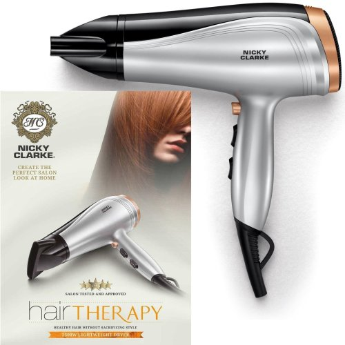 Nicky Clarke Hair Therapy Lightweight Women's Dryer DC 2500W Ceramic Tourmaline