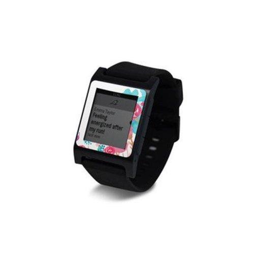 DecalGirl PW2SE-BLUSHBLS Pebble 2 SE Smart Watch Skin - Blush Blossoms