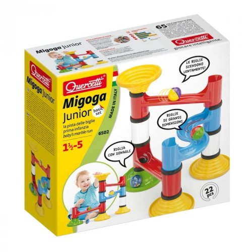 Quercetti Migoga Junior Basic 22 Piece Marble Run Ages 1.5-5 Years