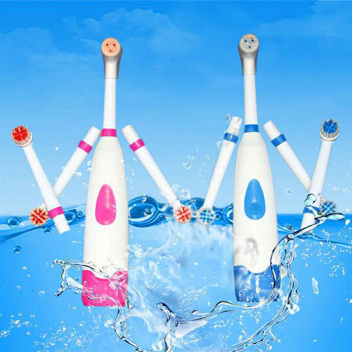 Electric Toothbrush With 4 Pcs Replacement Heads