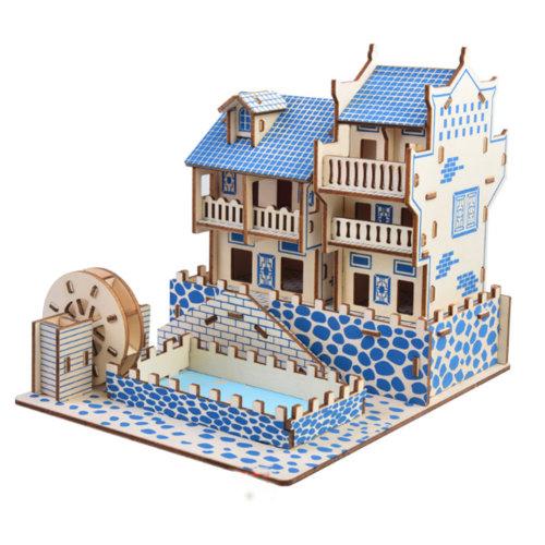 Jigsaw Woodcraft Kit Puzzle Architecture DIY Toys Educational Toys #1