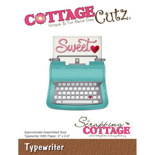 """CottageCutz Die-Typewriter, 2""""X2.4"""""""