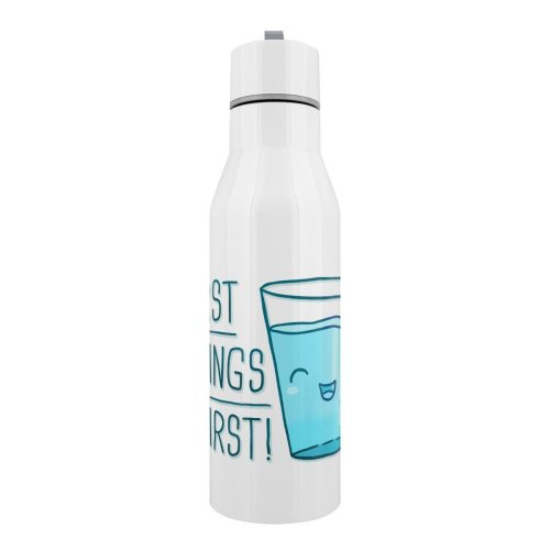 Grindstore First Things Thirst Stainless Steel Water Bottle
