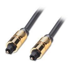LINDY 20m Gold TosLink SPDIF Digital Optical Cable