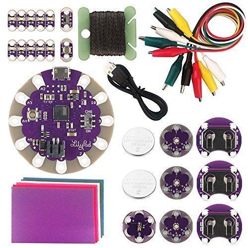 KOOKYE LilyPad Electronic Starter Learning colourful DIY Sewable Tool Kit LilyPad USB Board