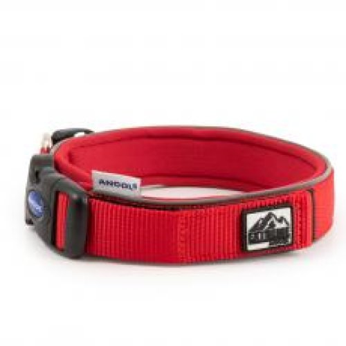 Extreme Nylon Padded Collar Red Size 2 26-30cm