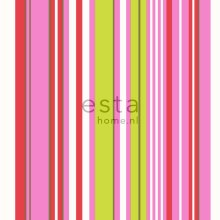 wallpaper stripes lime green and pink - 116532