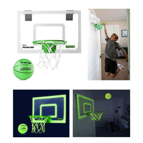 SKLZ Pro Mini Basketball Hoop Midnight Glow in Dark