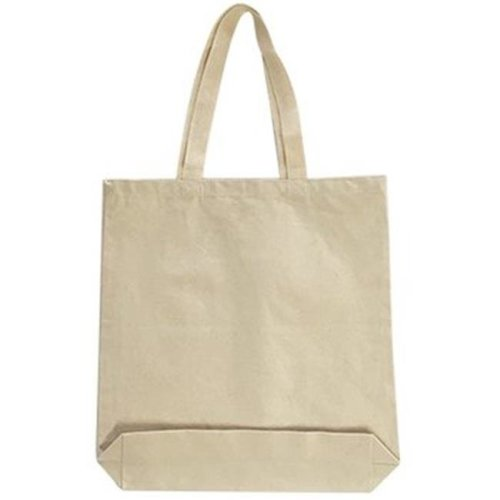DDI 2303199 12 oz Medium Gusseted Tote, Natural - Case of 144
